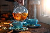 istock Fruit Tea with Oranges, Cinnamon and Rosemary 1262729056