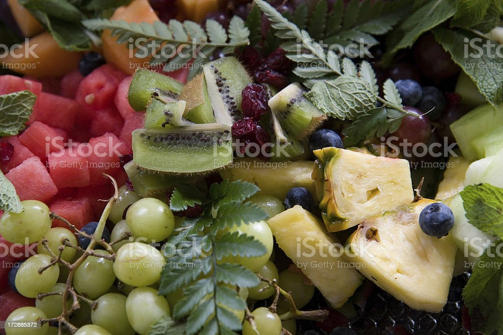 Fruit tray royalty-free stock photo