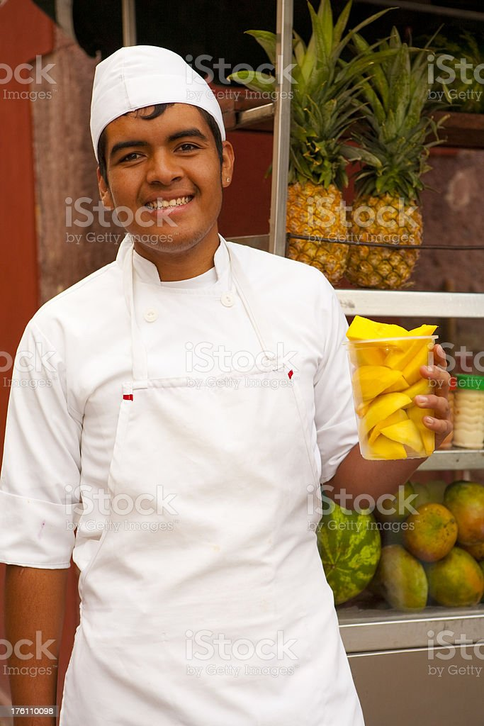 Fruit Vendor royalty-free stock photo