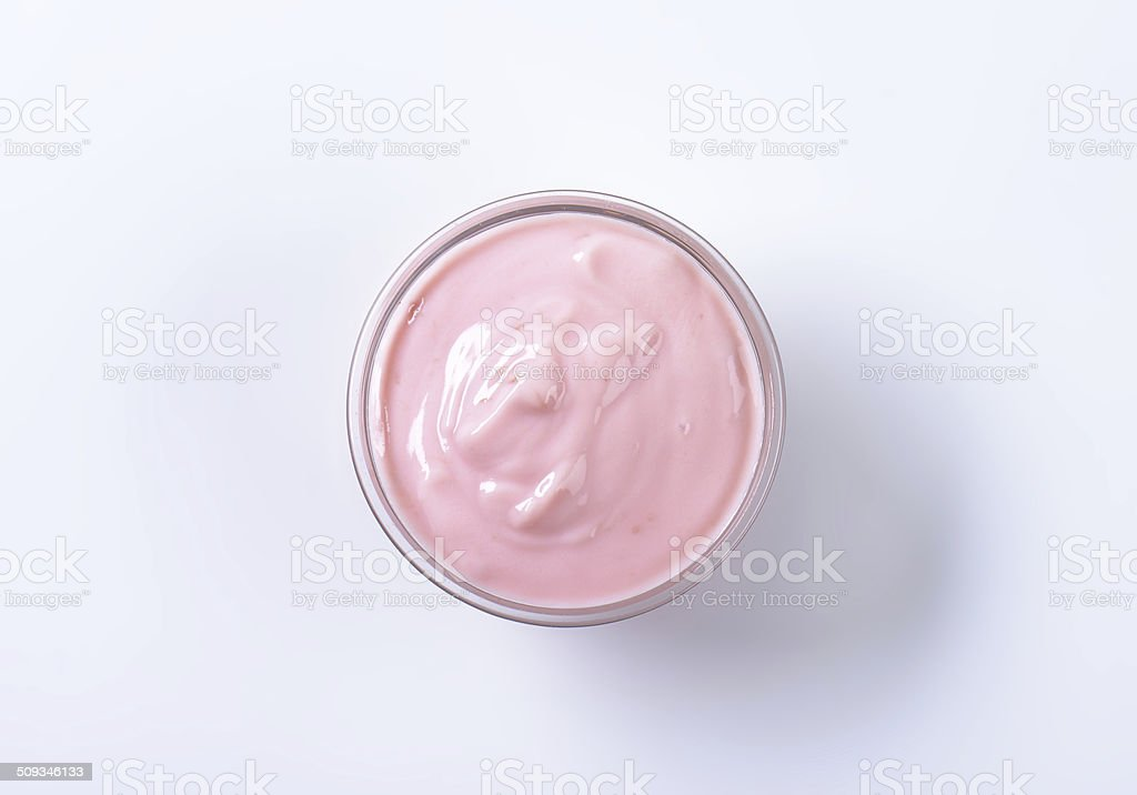 fruit yoghurt stock photo