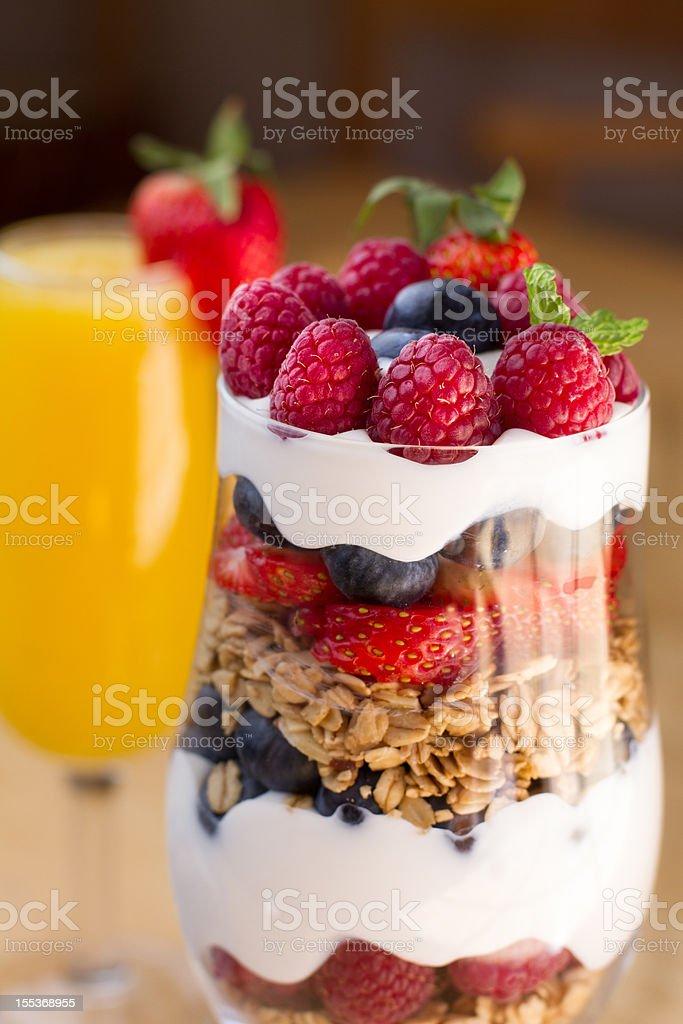Fruit, Yogurt and Granola Parfait stock photo