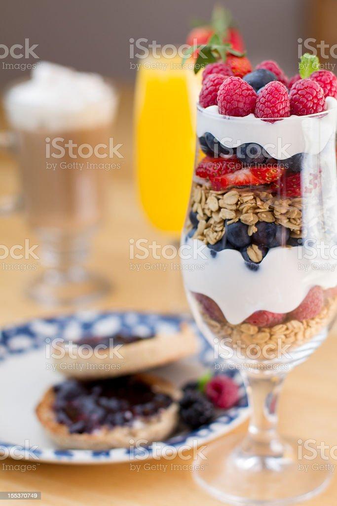 Fruit, Yogurt and Granola Parfait royalty-free stock photo