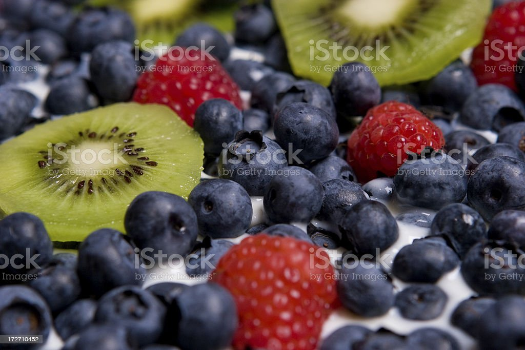 Fruit Yogurt Plate royalty-free stock photo