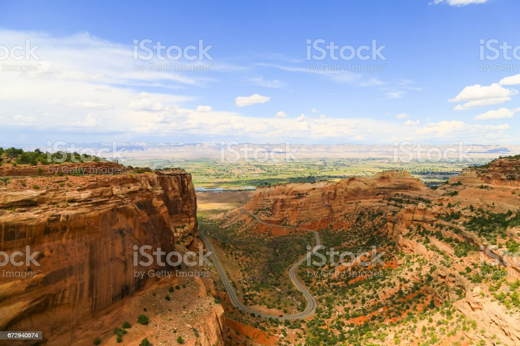 Fruita Canyon in the Colorado National Monument stock photo