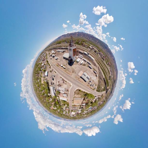 Fruita COOP, Fruita, Colorado, Tiny Planet stock photo