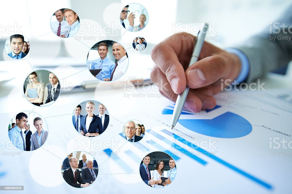 Fruitful business networking stock photo