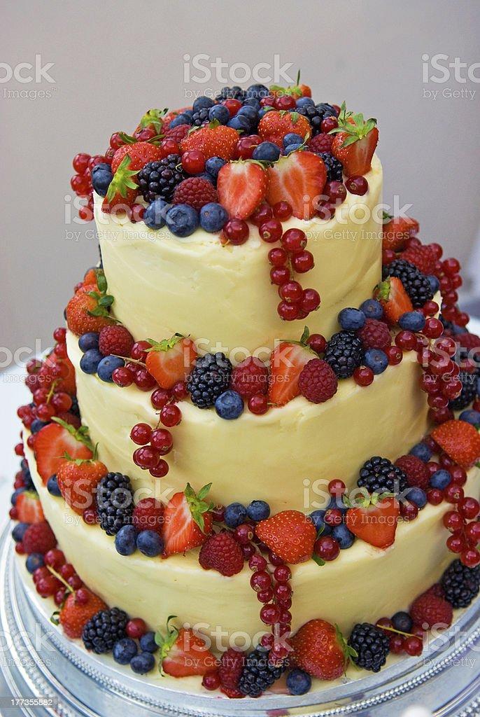 Fruitful Wedding Cake stock photo