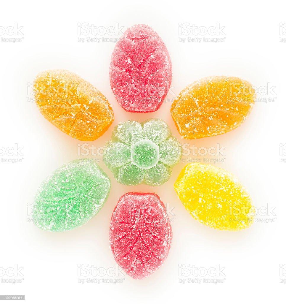 fruit-jelly flower stock photo