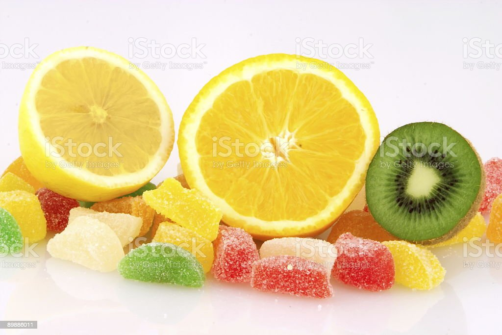 Fruits and jelly royalty-free stock photo