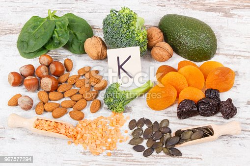 istock Fruits and vegetables containing vitamin K, minerals and dietary fiber, healthy nutrition concept 967577294