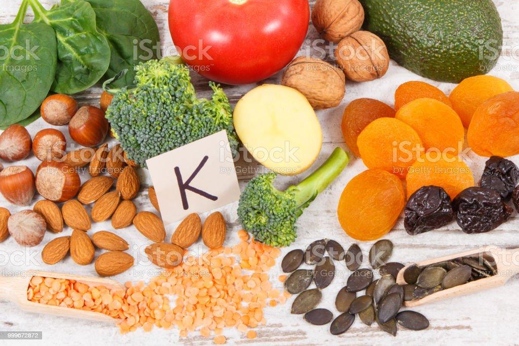 Alimentos q no contengan vitamina k