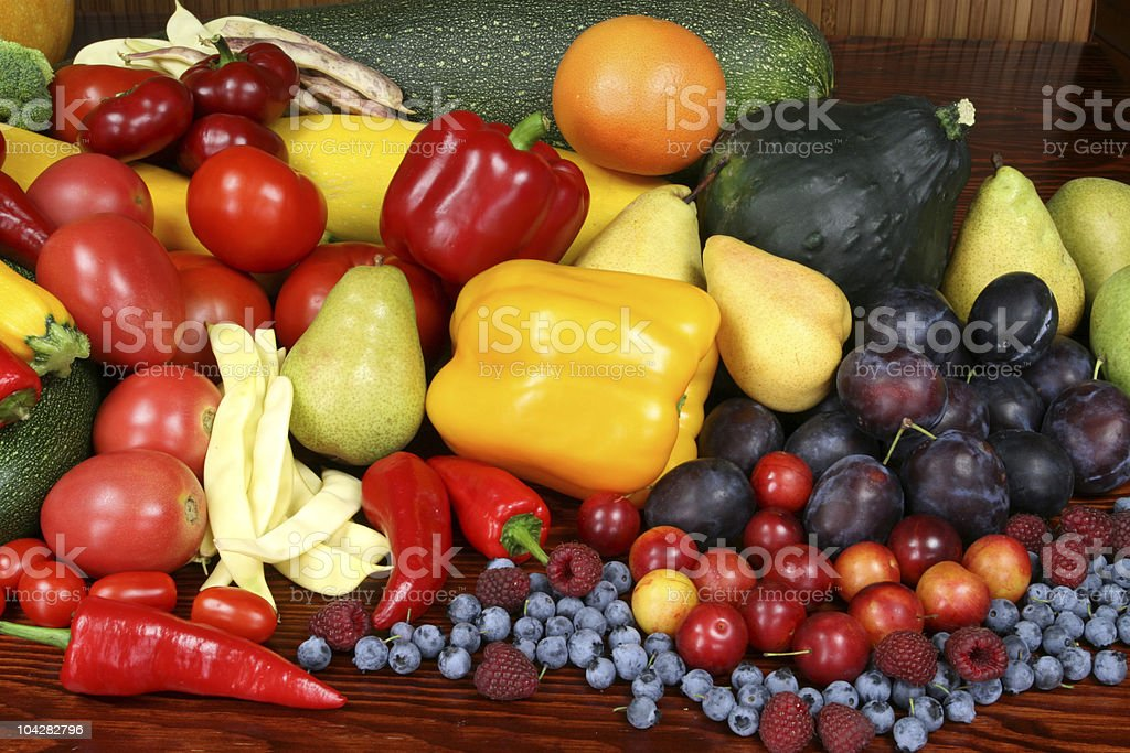 Fruits and vegetables. royalty-free stock photo