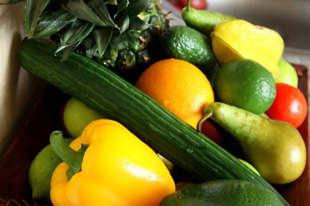 fruits et légumes - palais buccal photos et images de collection