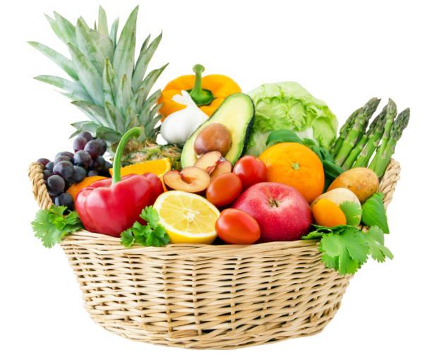 과일과 채소 - 바구니 뉴스 사진 이미지
