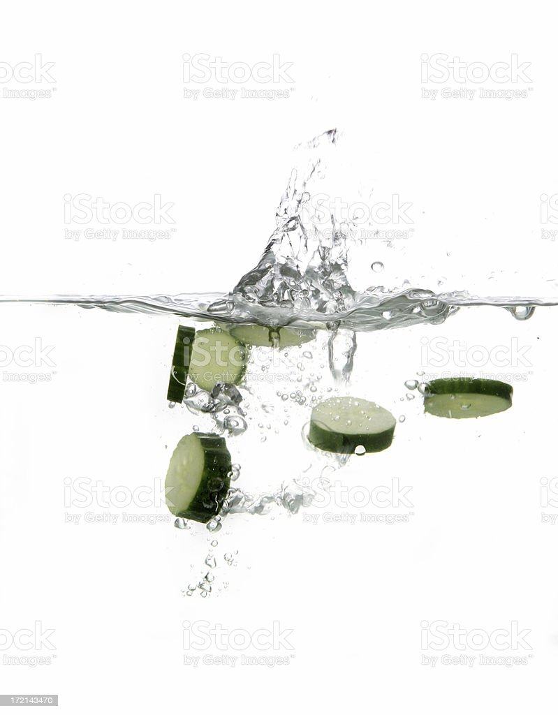Fruits and Vegetables splash serie royalty-free stock photo
