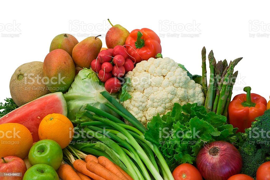 Fruits and Veggies royalty-free stock photo