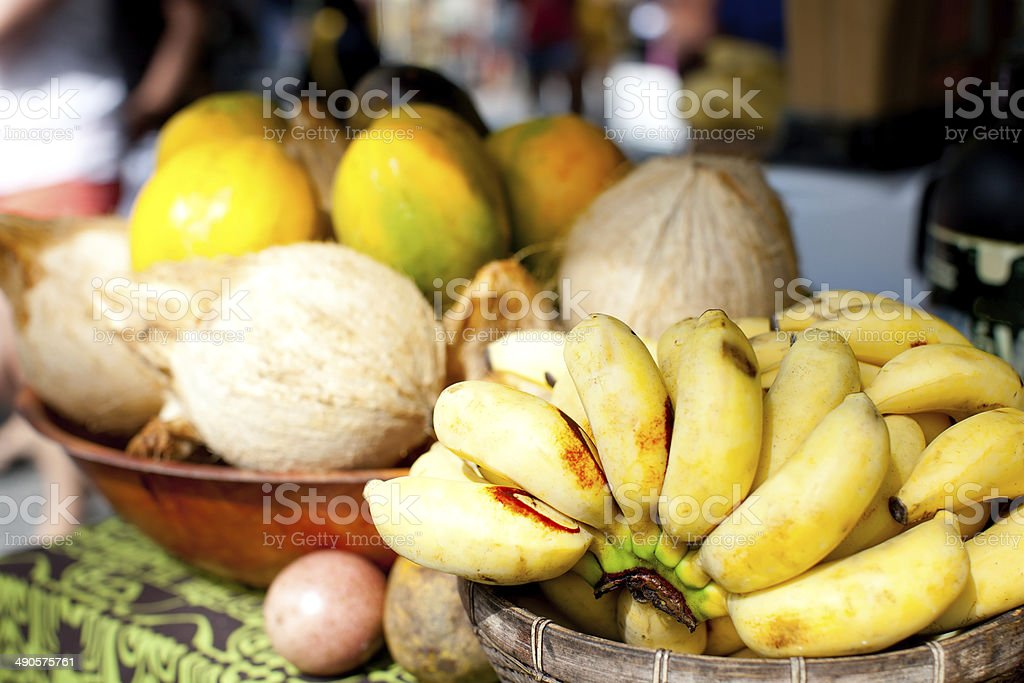 fruits at farmers market stock photo