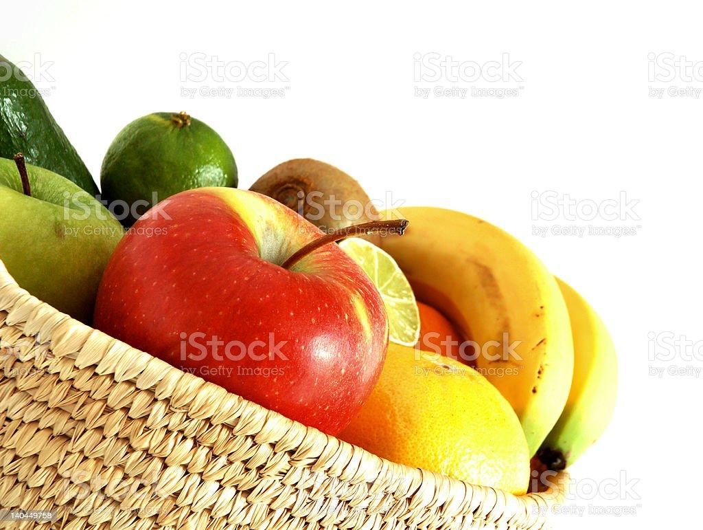Fruits basket royalty-free stock photo
