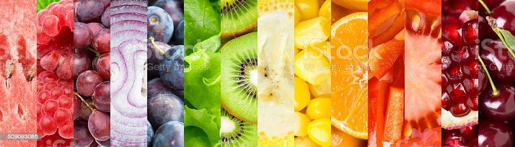 Früchte, Beeren und Gemüse – Foto