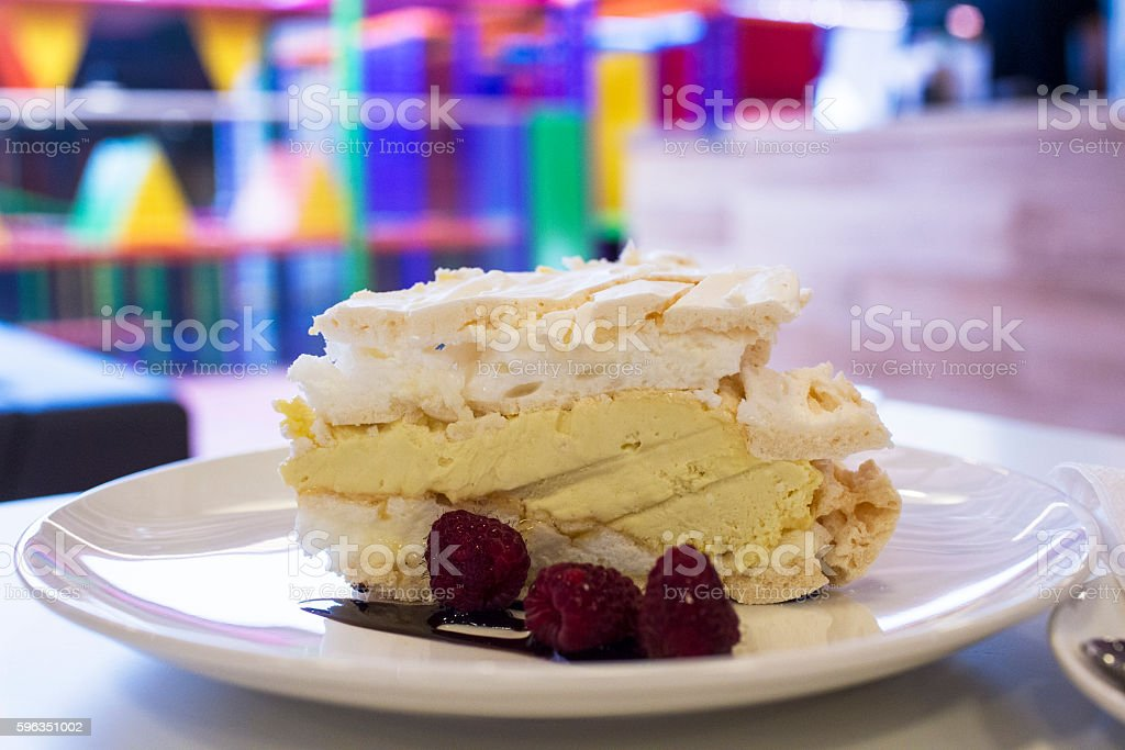 Fruits cake with meringue royalty-free stock photo