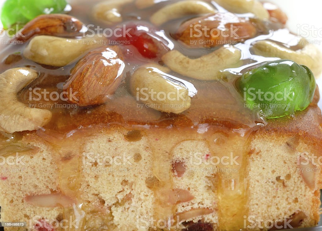 fruits cake with mix nut and dried fruit royalty-free stock photo