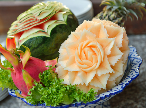 A scalpel can also be used for fruit carving