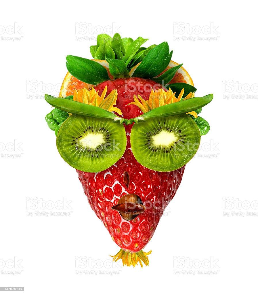 Fruits face royalty-free stock photo
