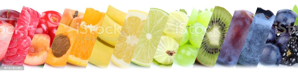 Fruits fruit collection group of orange banana berries apples photo libre de droits