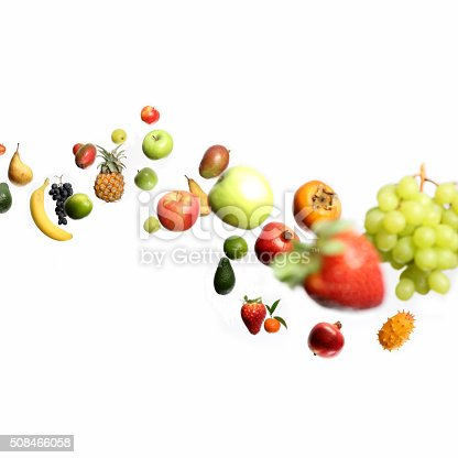 istock Fruits in motion 508466058
