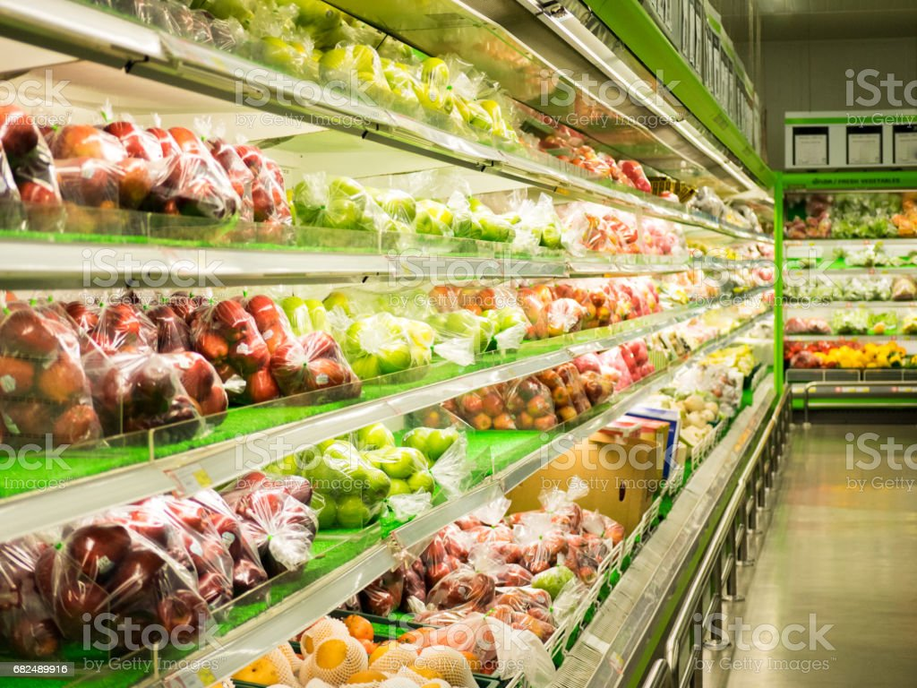 fruits in supermarket stock photo