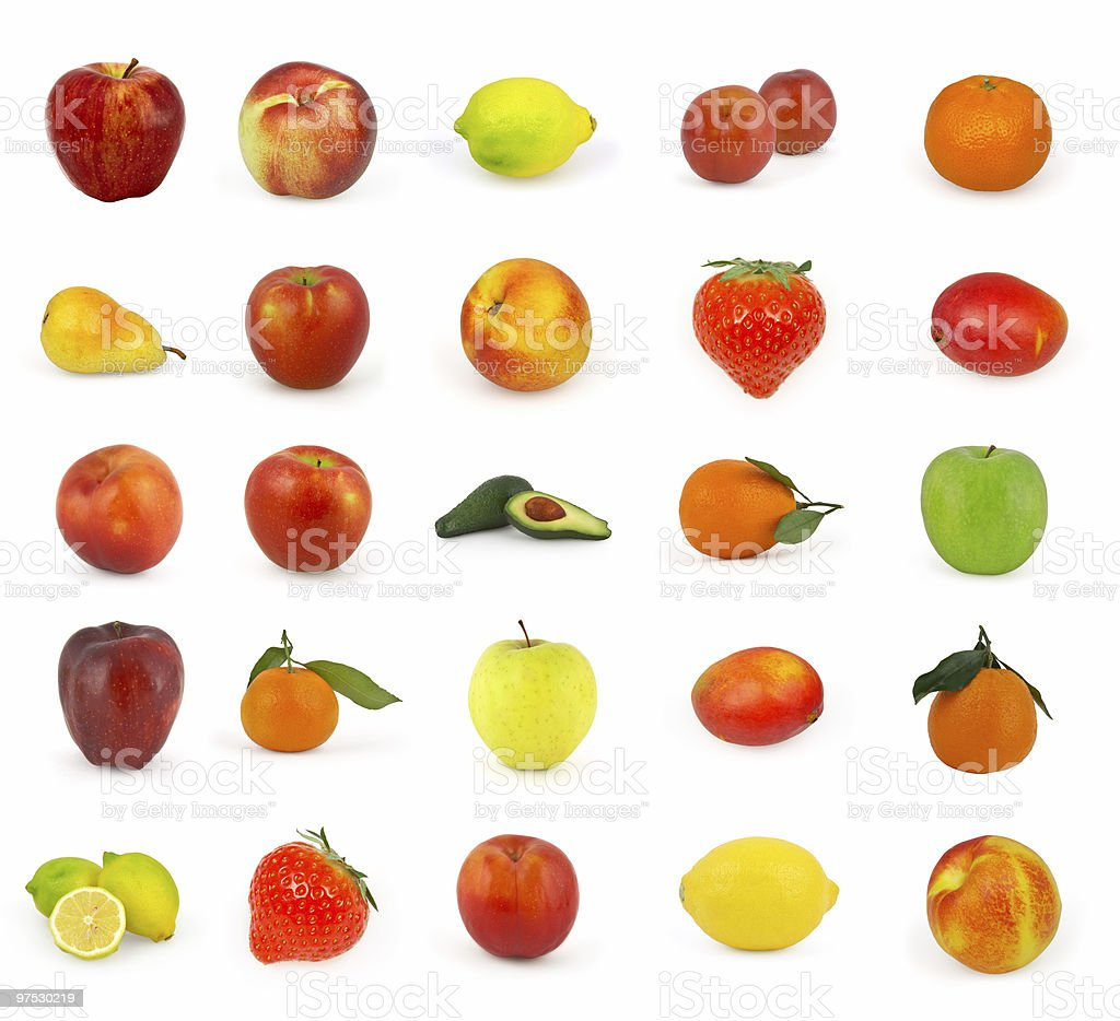 Fruits isolated on white background royalty-free stock photo