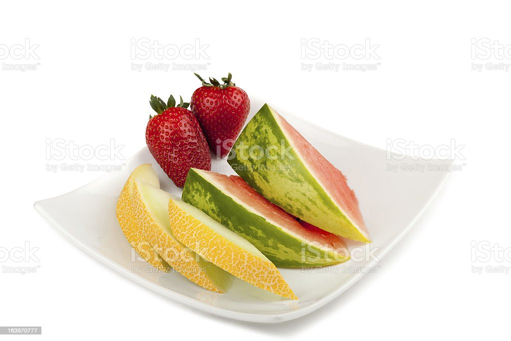 Fruits on a plate royalty-free stock photo