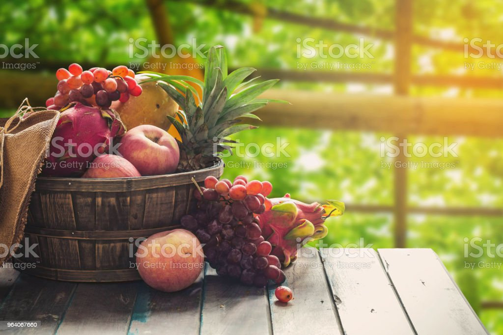 Fruits on a wooden - Royalty-free Agriculture Stock Photo