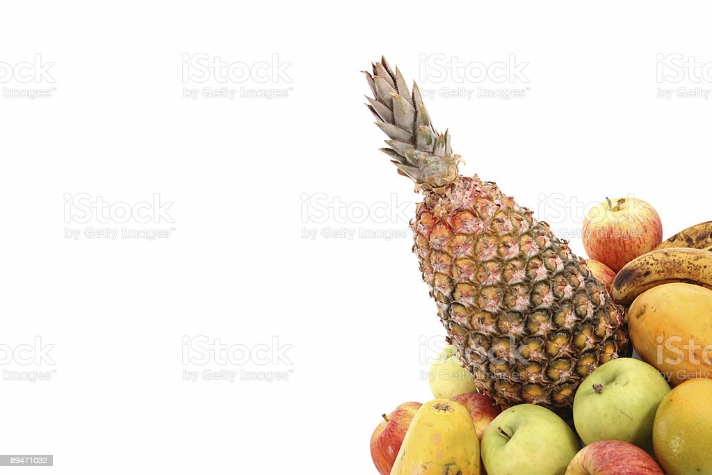Fruits on right corner royalty-free stock photo
