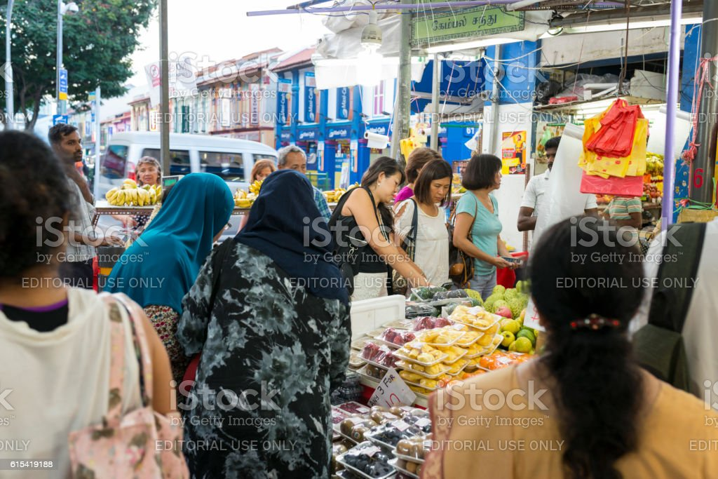 Fruits on Sale at Fruit Stall, Little India, Singapore stock photo