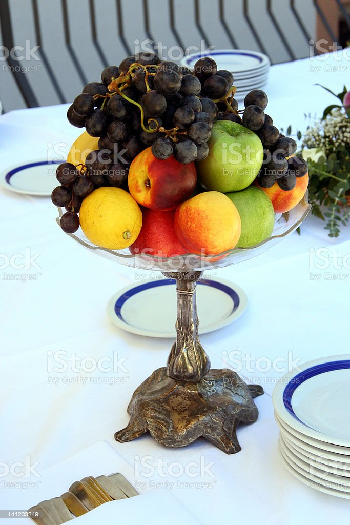 fruits on the table royalty-free stock photo