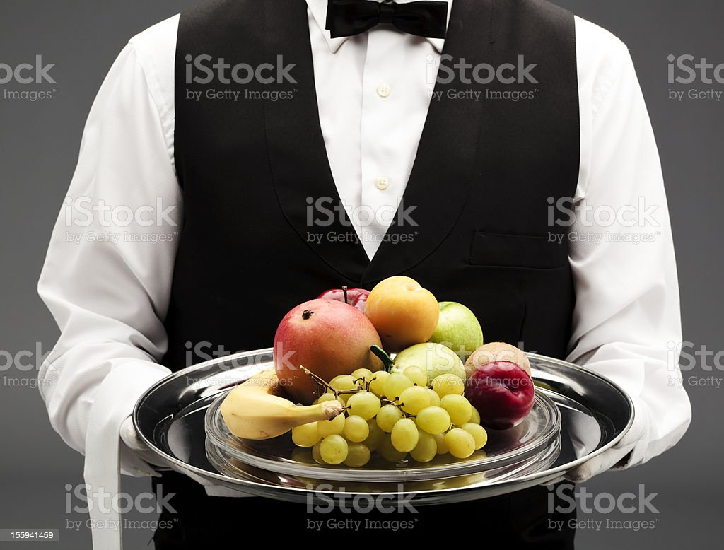 fruits on tray royalty-free stock photo