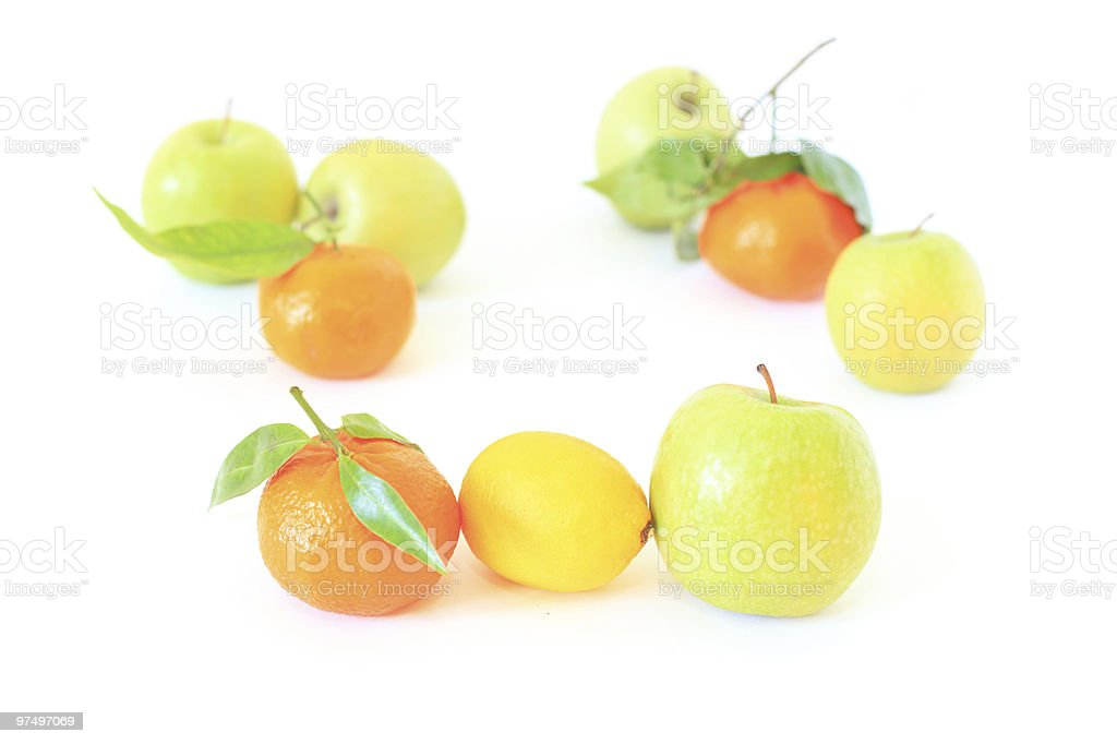 fruits on white royalty-free stock photo
