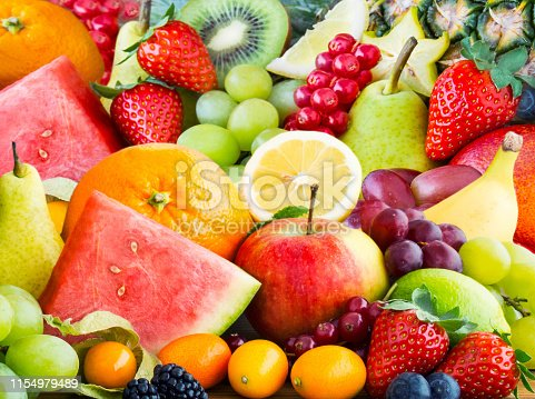 Fruits background  with copy space