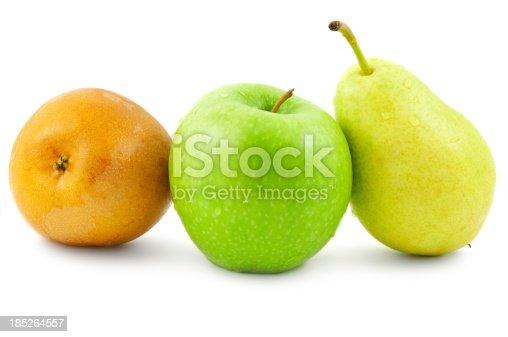Raw Organic Yellow Asian Apple Pears Ready to Eat