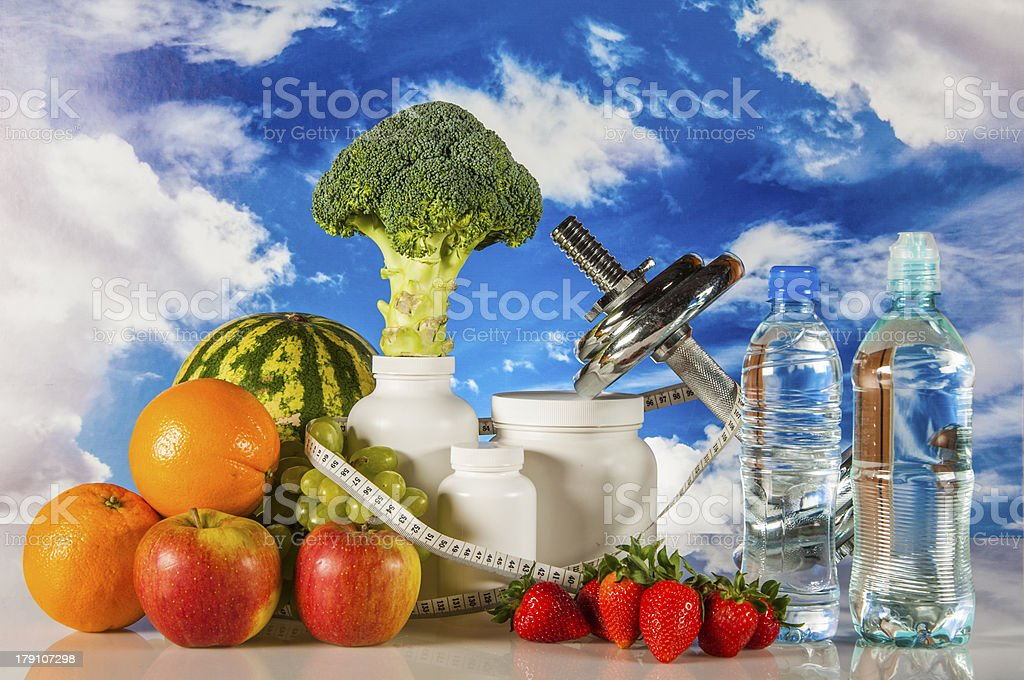 Fruits, vegetables, healthy food stock photo
