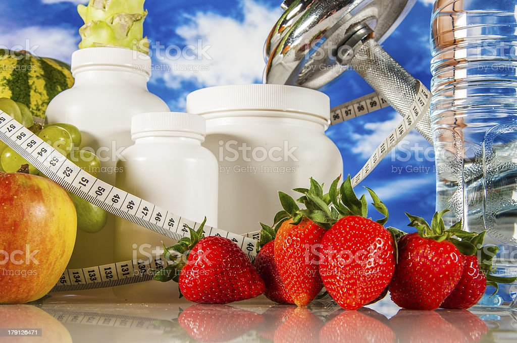 Fruits, vegetables, healthy food royalty-free stock photo