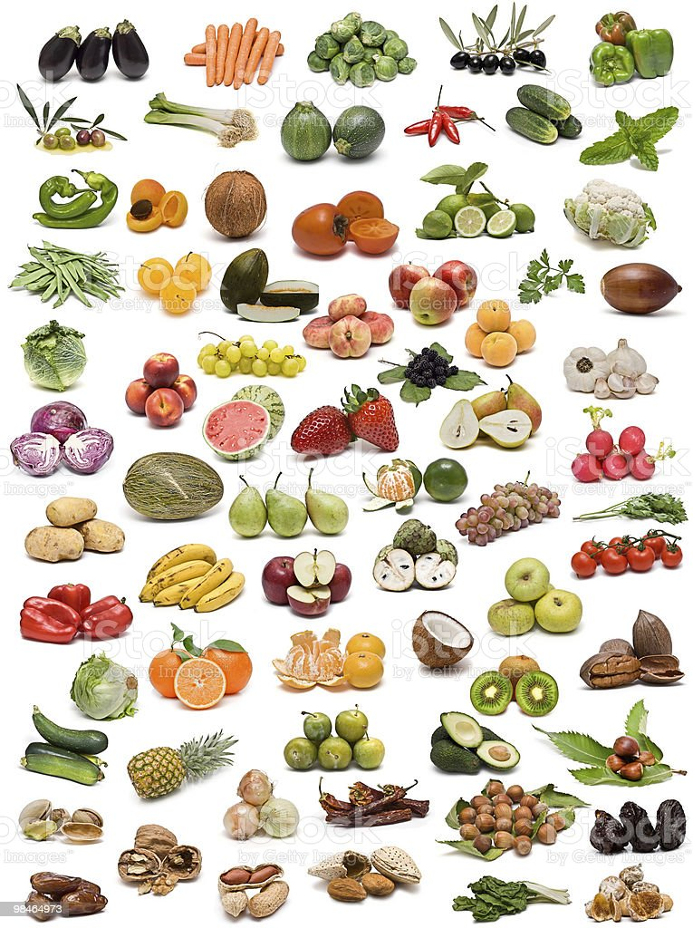 Fruits, vegetables, nuts and spices. royalty-free stock photo