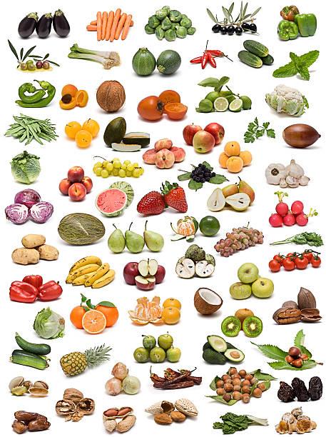 obst, gemüse, nüssen und gewürzen. - melonenbirne stock-fotos und bilder