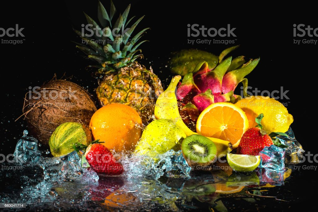 Fruits with water splash foto de stock royalty-free