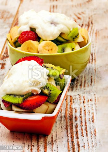904734850 istock photo Fruits with yoghurt 1214649703