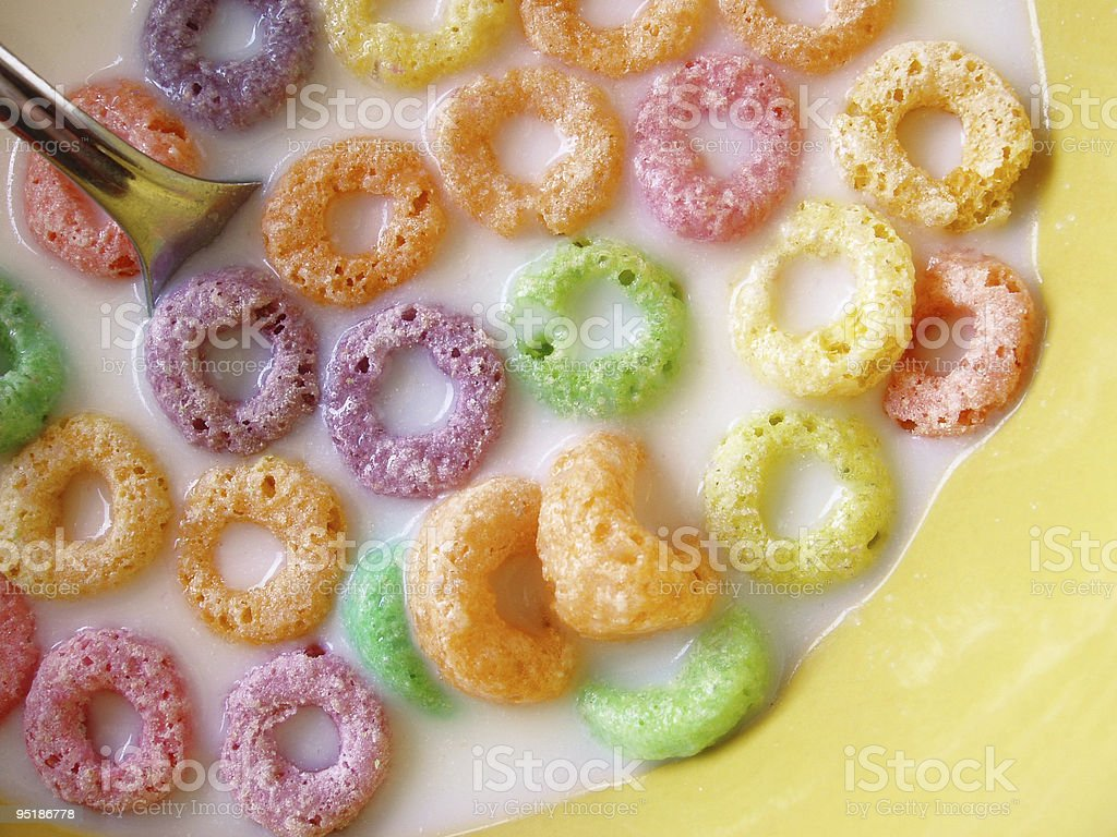 fruity cereal  Backgrounds Stock Photo