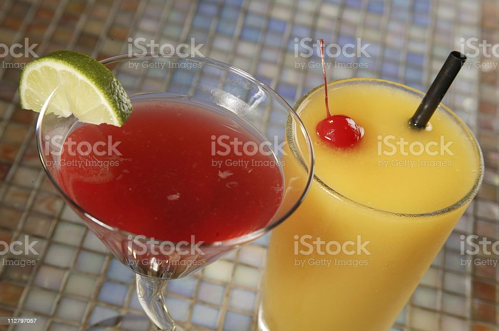 Fruity Cocktails - 2 royalty-free stock photo