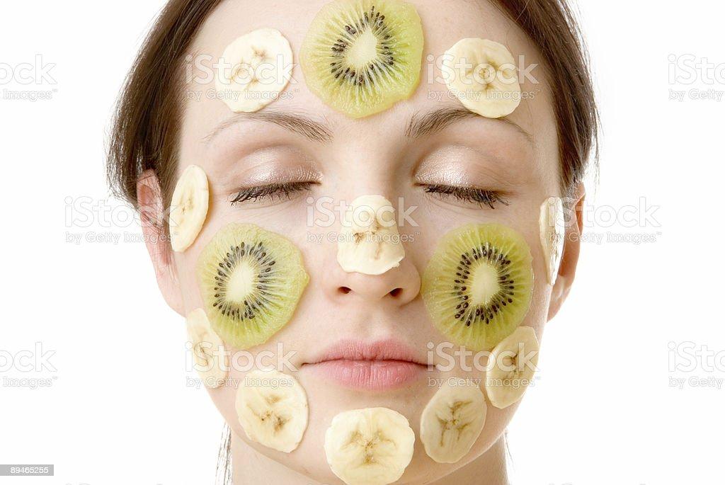 Fruity Face Treatment royalty-free stock photo