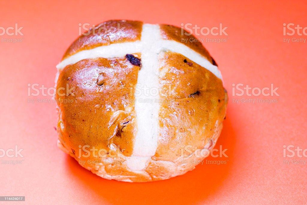 fruity hot cross bun royalty-free stock photo
